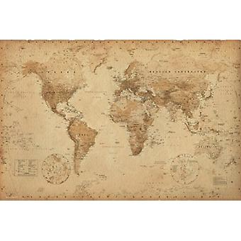 Map of the World Poster Poster Print