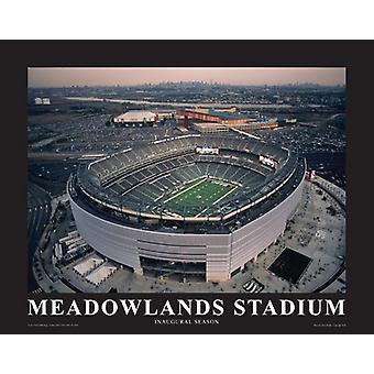 Майк Смит Нью-Йорк Джетс на новый стадион Meadowland плакат печати, Майк Смит (14 x 11)