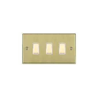 Hamilton Litestat Hartland Polished Brass 3g 250W M-Way Touch Mast PB/WH