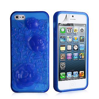 Yousave Accessori Iphone 5 e 5s Gel Case - blu-rosa
