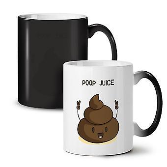 Caca de jugo nuevo negro cambiando de color té taza de café de cerámica 11 oz | Wellcoda