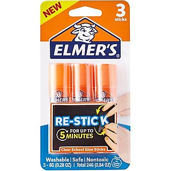 Elmer's Re-Stick Washable School Glue Sticks 8g-3/Pkg E4803