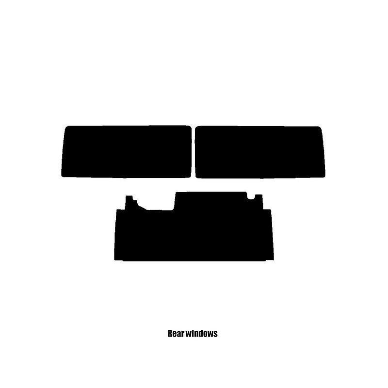 Pré coupé vitres teintées - Jeep Wrangler 3 portes - 2007 et plus récente - vitre arrière dirigée