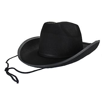 Gli adulti nero Texas Cowboy Hat costume accessorio
