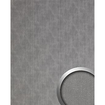 Wall Panel metal optics WallFace 20202 SLIGHTLY USED titanium AR wall smooth in the used look brushed adhesive abrasion resistant silver grey 2.6 m2