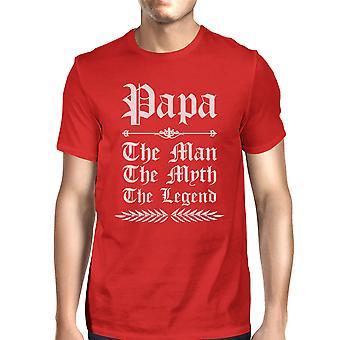 Vintage Papa gótico vermelho Mens gráfico pais T t-shirt para família feliz