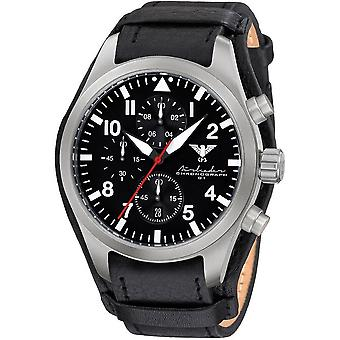 KHS mens watch Airleader Steel Chronograph KHS. AIRSC. R