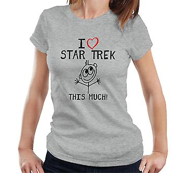 Ich liebe Star Trek das viel Frauen T-Shirt