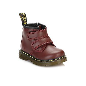 Dr. Martens Infants Cherry Red Brooklee Velcro Boots