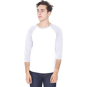 American Apparel Mens Polycotton Three-Quarter Sleeve Raglan T-Shirt