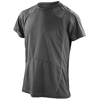 Spiro Mens Colours Short Sleeve Sports Fitness Training Performance Shirt