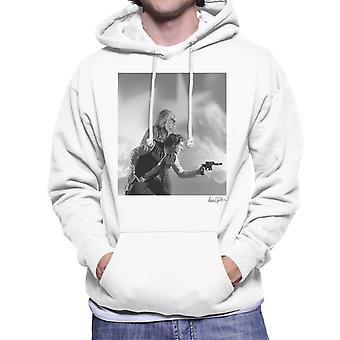 Star Wars Behind The Scenes Chewbacca And Han Solo White Men's Hooded Sweatshirt