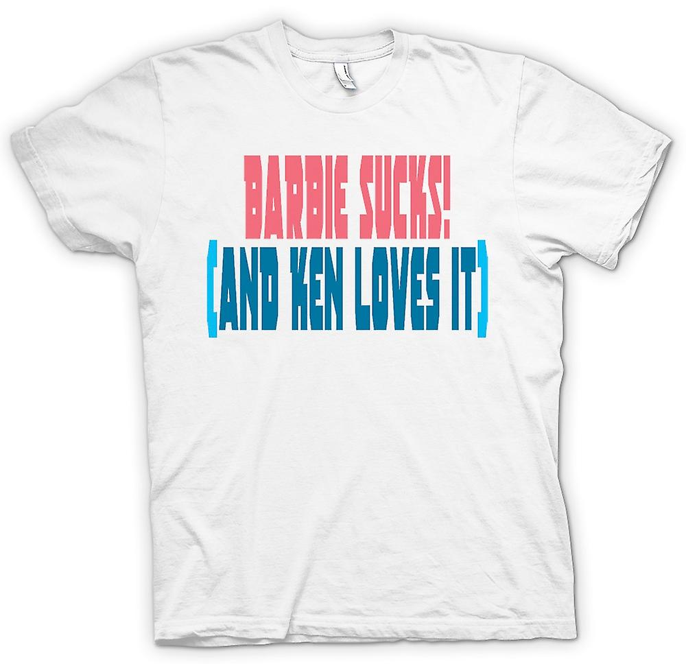 Mens T-shirt - Barbie Sucks! (And Ken Loves It) - Quote