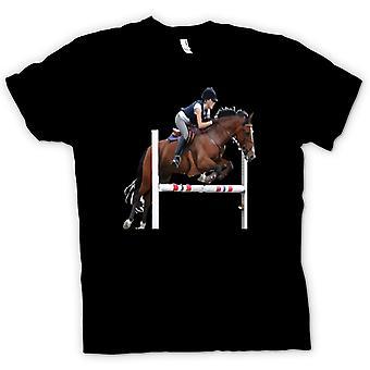 Mens t-shirt-cavallo salto ostacoli