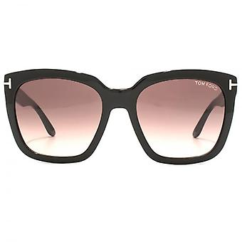 Tom Ford Amarra Sunglasses In Shiny Black