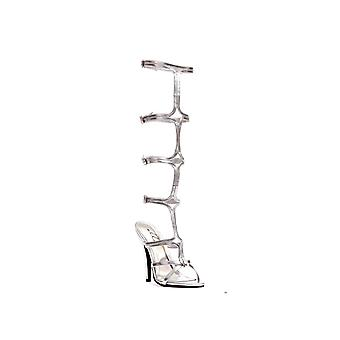 Ellie Shoes IS-E-510-Sexy 5 Heel Knee High Strap Up Sandal   Gold 10
