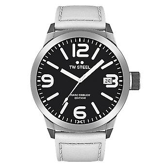 TW stål mens klocka Marc Coblen Edition TWMC45 wrist watch läderarmband