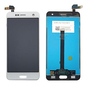 Display LCD complete unit for ZTE blade V8 white