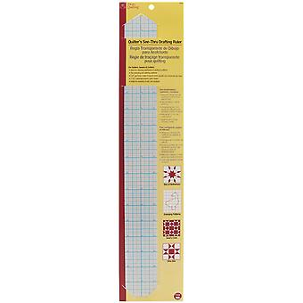 Dritz Quilting See-Through Drafting Ruler -2
