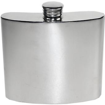 Plain Pewter Kidney Flask - 6oz