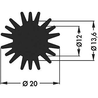 LED heat sink 6.1 C/W (Ø x H) 20 mm x 15 mm Fischer Elektronik SK 585 15 SA