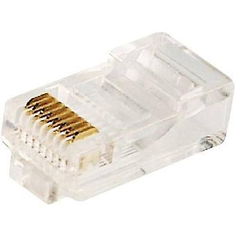 LogiLink MP0002 Plug CAT 5E Pack de 100, non blindés 8P8C RJ45 Plug, droite Transparent
