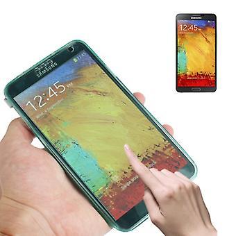 モバイル シェル フリップ携帯電話三星銀河タッチ 3 ターコイズ クロス