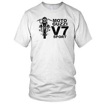 Moto Guzzi V7 Sport Classic Bike Mens T Shirt