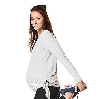 Noppies 66505-C246 Damen Heather Grey Melange Schwangerschaft Sport T-Shirt