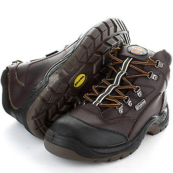 Dickies Mens Berwick Work Safety Steel Toe Cap Hiker Boot Black,Brown