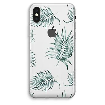 iPhone XS Max Transparent Case (Soft) - Simple leaves
