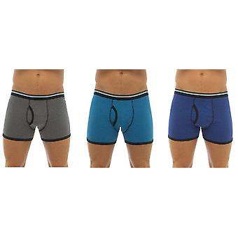 Tom Franks Mens Cotton Stretch Boxer Short Trunk (Pack of 3)