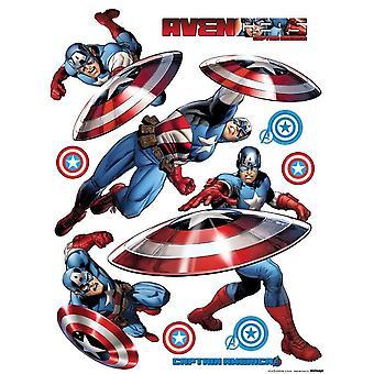 Captain America selbstklebende Dekoration 65x85cm