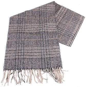 Bassin and Brown Bellonia Checked Wool Scarf - Grey/Charcoal