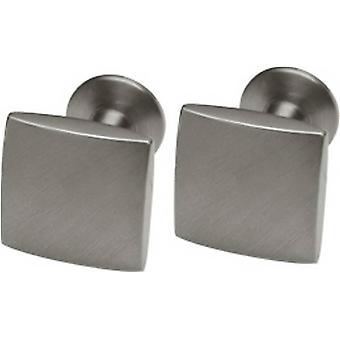 Ti2 Titanium mat vierkant Manchetknopen - grijs