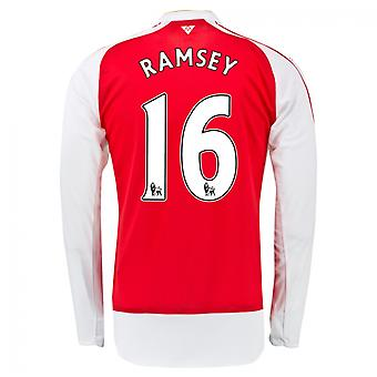 2015-16 Arsenal Home Long Sleeve Shirt (Ramsey 16) - Kids