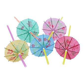 TRIXES 100PC parapluie Cocktail paillettes Party Pack Beach Tripical coup d'oeil