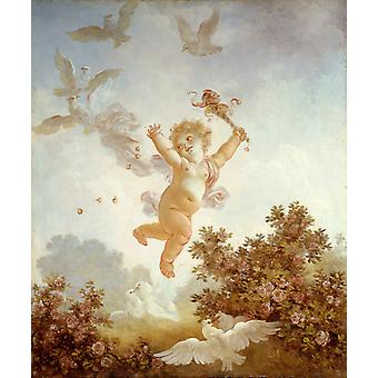 Der Narr, Jean-Honore Fragonard, 60x50cm