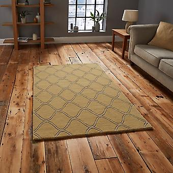 Elements EL65 Yellow  Rectangle Rugs Plain/Nearly Plain Rugs
