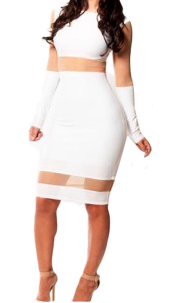 Waooh - Fashion - Short dress Sail In A Transparent inserts