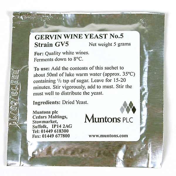 Gervin No 5 White Label Yeast