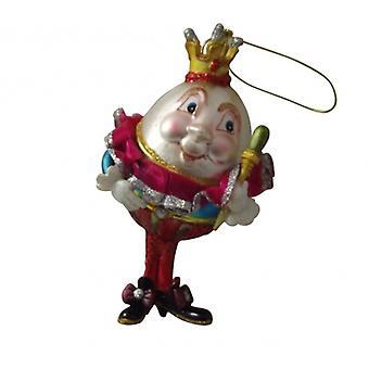 Glass Humpty Dumpty Collectable, Gisela Graham Christmas Range
