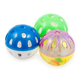 Ancol Plastic Balls with Bell Cat Toy - 3 Pack