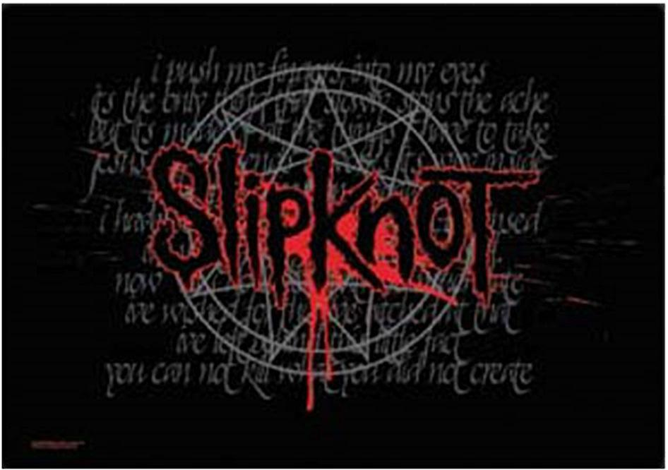 Slipknot Splattered Logo large textile poster  (mm)