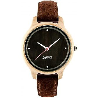 Watch D.W.Y.T DW-00402-1009 - Lyra Wood Leather Brown woman