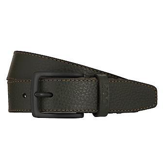 JOOP! Belts men's belts leather belt olive/green 7894
