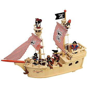 Tidlo Wooden The Paragon Pirate Ship Play Set Accessories