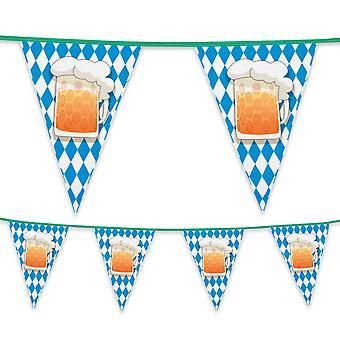 6 Metre Plastic Bunting Beer Party Oktoberfest
