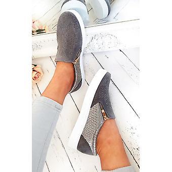 IKRUSH damskie Leah Slip On buty zdobione