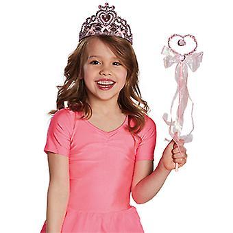 DIADEEM roze hart kinderen roze accessoire carnaval prinses